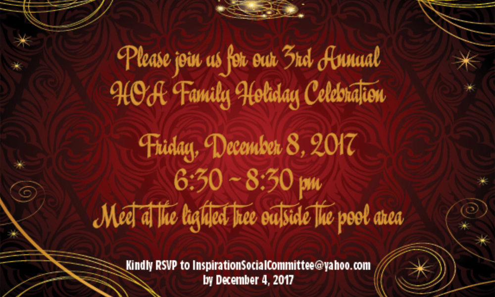 3rd Annual HOA Holiday Celebration!