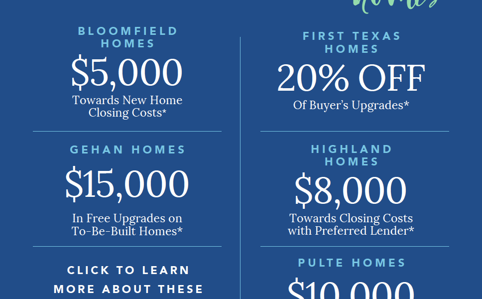 Save On a New Home Before the End of the Year with Homebuyer Incentives
