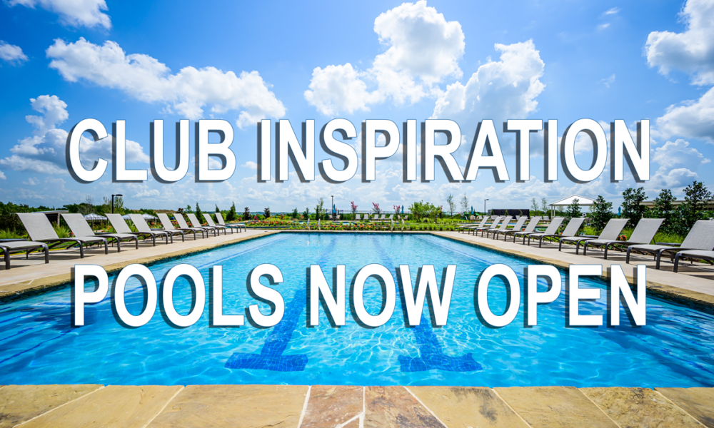 Club Inspiration Pools Now Open!